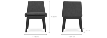 dimension of Lewis Armless Chair