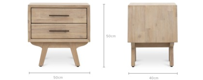 dimension of Miles Bedside Table