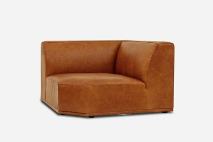 Todd Corner Sofa Leather Camel Castlery Singapore
