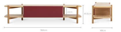 dimension of Bambu TV Console