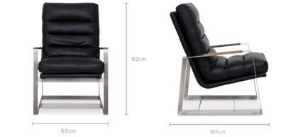 dimension of Denver Armchair Leather