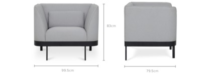 dimension of Luna Armchair