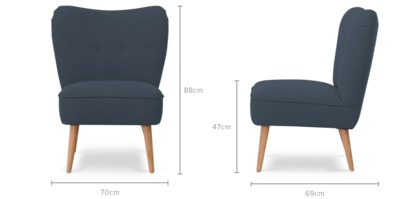 dimension of Florence Armchair