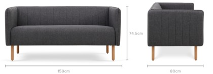dimension of Leo Sofa