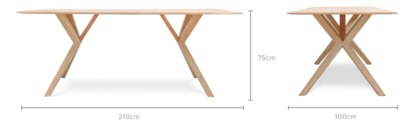 dimension of Nixon Dining Table