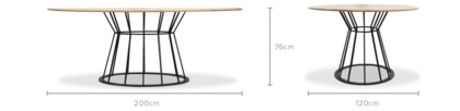 dimension of Otis Dining Table