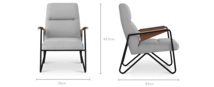 dimension of Timothy Armchair