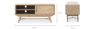 dimension of Miles TV Console, 120cm