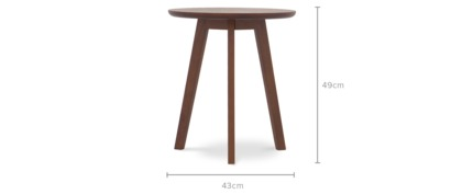 dimension of George Accent Table, Tall