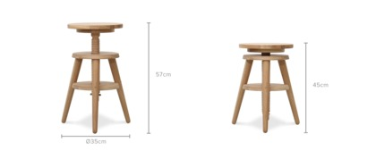dimension of Jayden Low Stool
