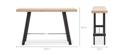 dimension of Benton Console Table