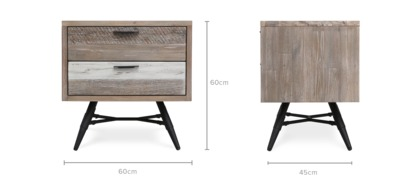 dimension of Cayson Bed Side Table