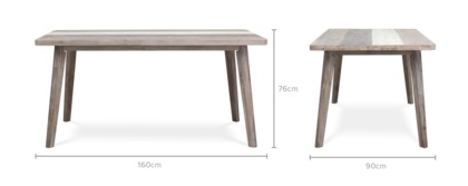 dimension of Gibson Dining Table