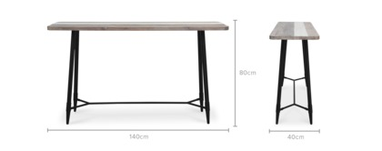 dimension of Gibson Console Table