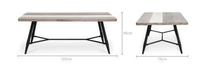 dimension of Gibson Coffee Table