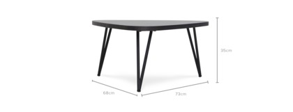 dimension of Reed Accent Table, Low