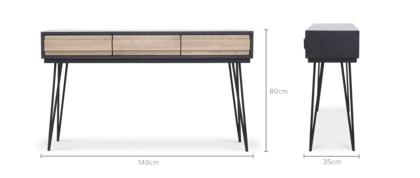 dimension of Reed Console Table