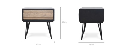 dimension of Reed Bedside Table