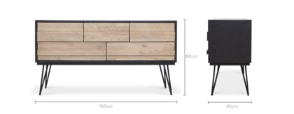 dimension of Reed Sideboard