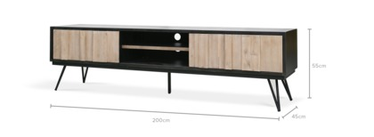 dimension of Reed TV Console, 200cm