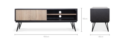 dimension of Reed TV Console, 150cm