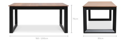 dimension of Rind Extendable Dining Table