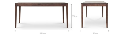 dimension of Bryce Dining Table with 4 George Chairs