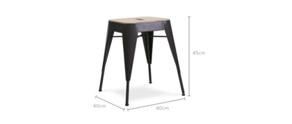 dimension of Franco Stool, 1 Pair