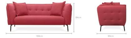 dimension of Zachary Sofa with Ottoman