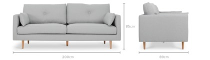 dimension of Chloe Sofa with Chloe Armchair