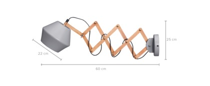 dimension of Berton Wall Lamp