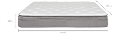 dimension of Cornell Mattress, Double Pocket Spring