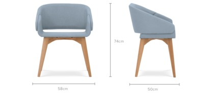 dimension of Dylan Chair