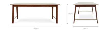 dimension of George Dining Table
