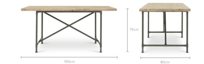 dimension of Kurt Dining Table