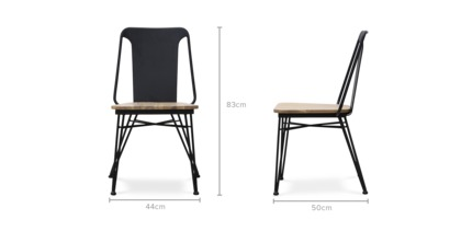 dimension of Neil Chair, 2 Pairs