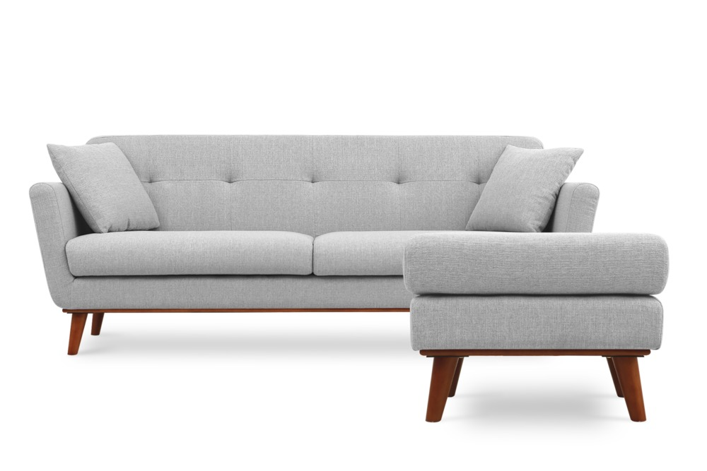 Hanford Sofa With Hanford Ottoman Castlery Singapore