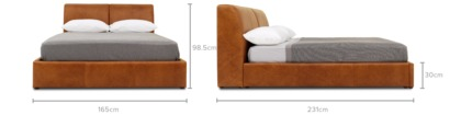 dimension of Todd Storage Bed Leather