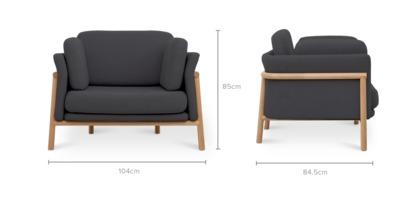 dimension of Bambu Armchair