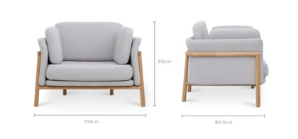 dimension of Bambu Armchair