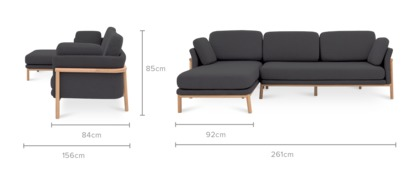 dimension of Bambu Sofa Sectional