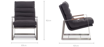 dimension of Denver Armchair