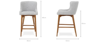 dimension of Roselyn Counter Chair